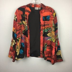 GORGEOUS SILK CHICOS BLAZER SIZE 1